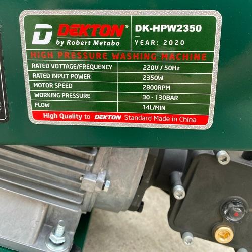 Máy Rửa Xe Dekton DK-HPW2350
