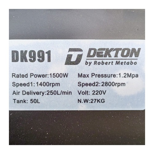 Máy nén khí không dầu Dekton DK991