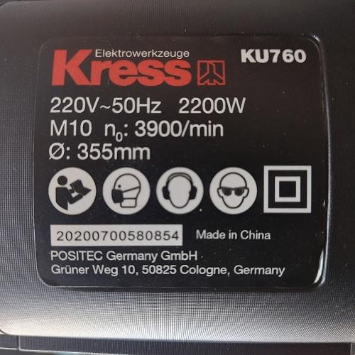 Máy Cắt Sắt Kress KU760 2200W