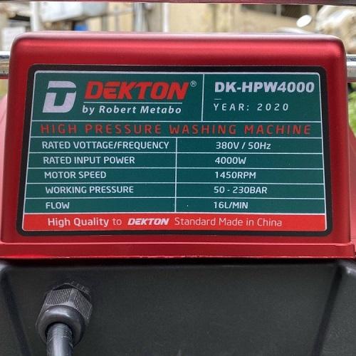 Máy Rửa Xe Công Nghiệp Dekton DK-HPW4000