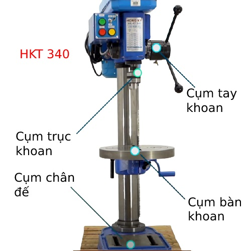 Máy Khoan Bàn Hồng Ký HKT 340