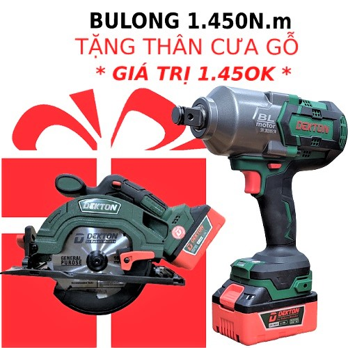 Máy Siết Bulong Pin Dekton M21 IW1450N