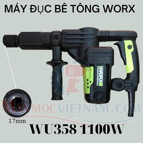Máy Đục Bê Tông 17mm Worx WU358 1100W