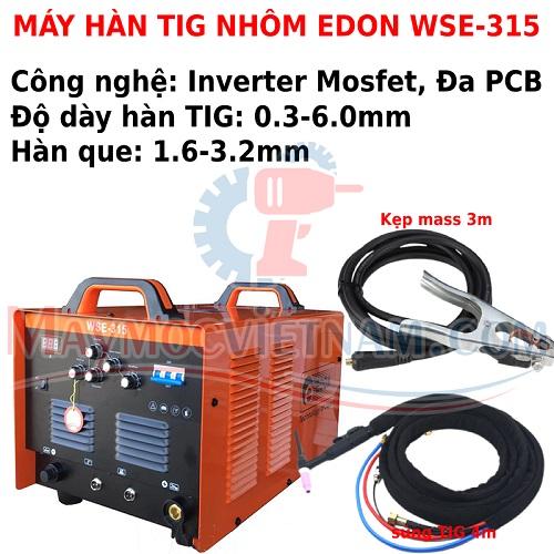 Máy hàn TIG nhôm Edon WSE 315 ACDC