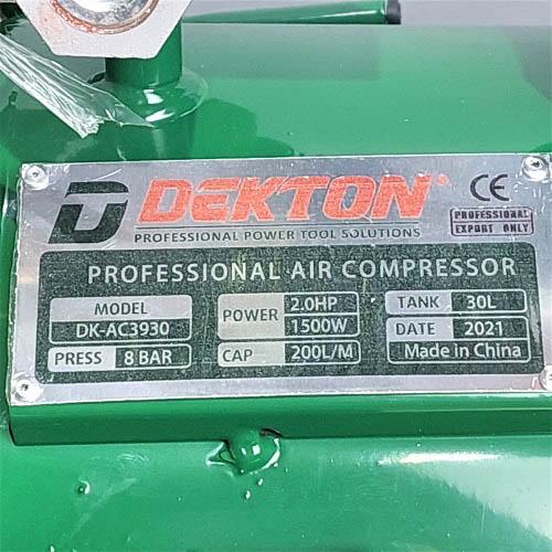 Máy nén khí không dầu Dekton DK-AC3930
