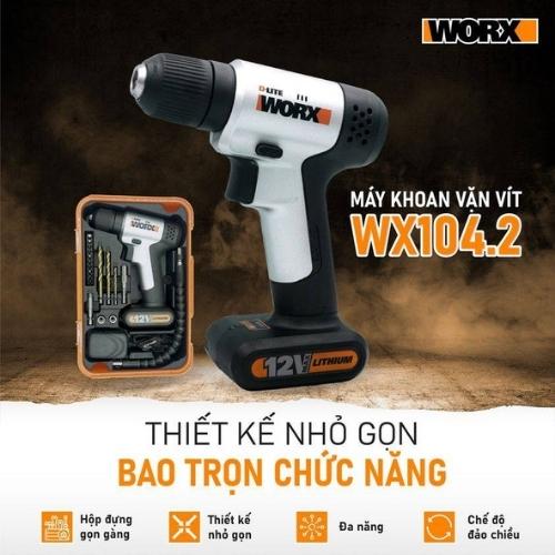 Máy khoan vặn vít dùng pin WORX WX104.2